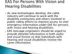 eas for persons with vision and hearing disabilities
