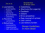 design guidelines in more detail