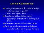 lexical consistency