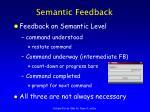 semantic feedback