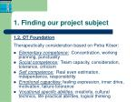 1 finding our project subject1