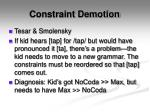 constraint demotion