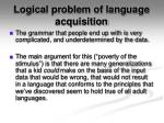 logical problem of language acquisition