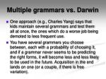 multiple grammars vs darwin