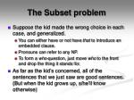 the subset problem