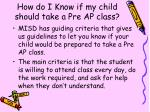 how do i know if my child should take a pre ap class