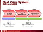 best value system pips pirms