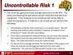 uncontrollable risk 1