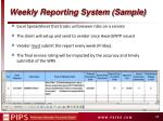 weekly reporting system sample