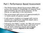 part i performance based assessment