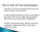 part ii end of year examination