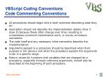 vbscript coding conventions code commenting conventions