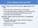 forms method get and post