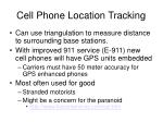 cell phone location tracking