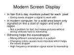 modern screen display