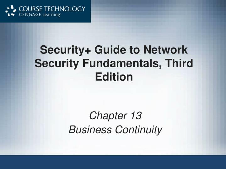 security guide to network security fundamentals third edition n.