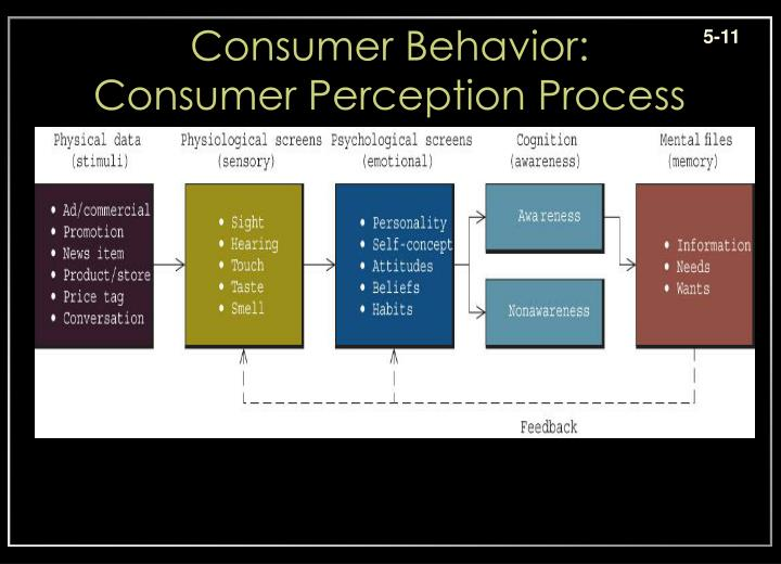 consumer perceptions and behavior Consumer buying behavior can be defined as a series of activities people engage in when searching, evaluating, selecting, purchasing, using and.