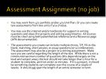assessment assignment no job
