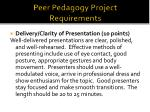 peer pedagogy project requirements1