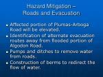 hazard mitigation roads and evacuation