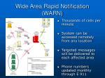 wide area rapid notification warn