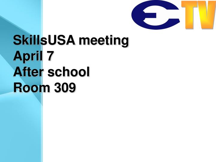 SkillsUSA meeting