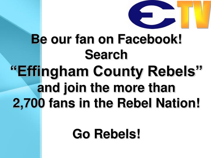 Be our fan on Facebook!
