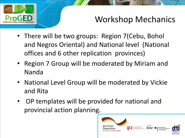 Workshop mechanics