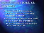 uses for young s double slit experiment