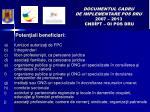 documentul cadru de implementare pos dru 2007 2013 cnd pt oi pos dru12