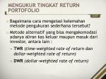 mengukur tingkat return portofolio1