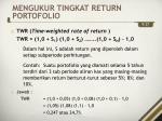 mengukur tingkat return portofolio4