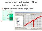 watershed delineation flow accumulation1