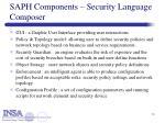 saph components security language composer