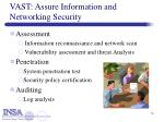 vast assure information and networking security