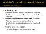 model of proenvironmental behavior rational choice models