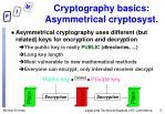 cryptography basics asymmetrical cryptosyst