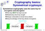 cryptography basics symmetrical cryptosyst