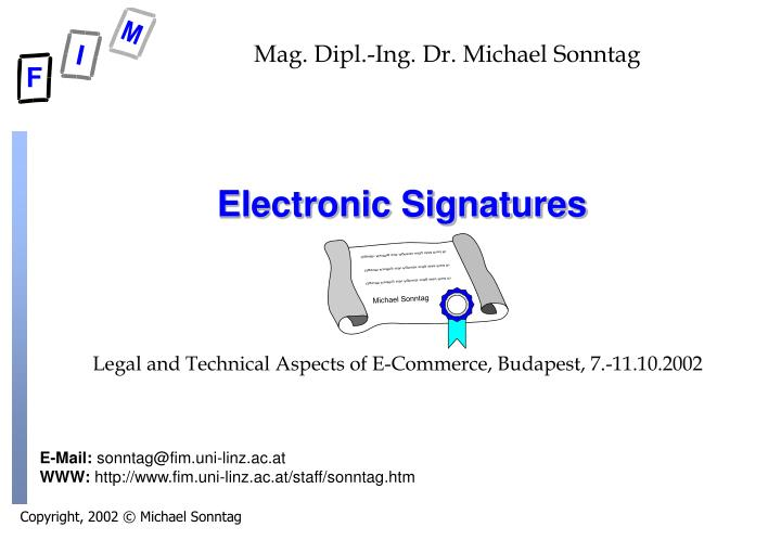 electronic signatures n.