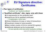 eu signature directive certificates