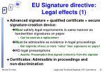 eu signature directive legal effects 1