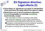 eu signature directive legal effects 2