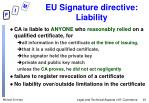 eu signature directive liability