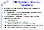 eu signature directive signatures
