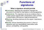 functions of signatures
