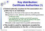 key distribution certificate authorities 1