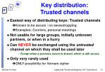key distribution trusted channels