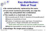 key distribution web of trust