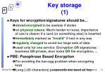 key storage 1