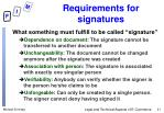 requirements for signatures